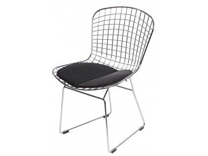 Židle Harry černý polštář
