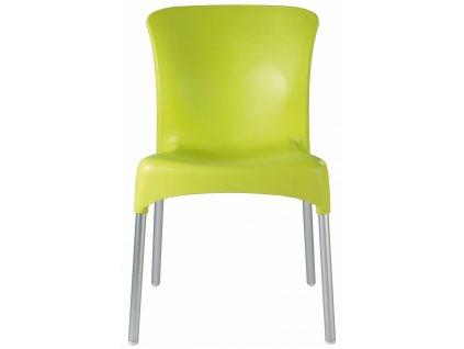 Židle Hey limetkově zelená