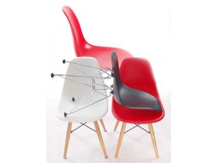Židle JUNIORP016 bílá, chrom. nohy