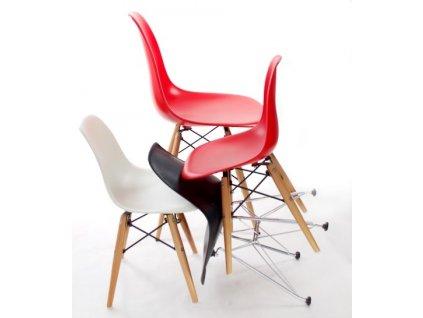 Židle JUNIORP016 bílá,dřevěné nohy
