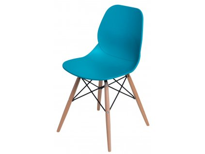 Židle LAYER dsw tyrkysová