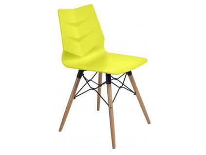 Židle LEAF dsw limetková