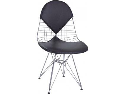 Židle NET double černý polštář