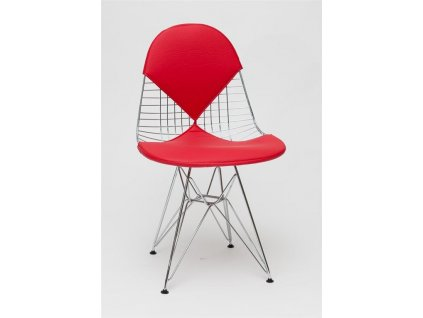 Židle NET double červený polštář