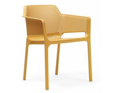 Židle Net žlutá