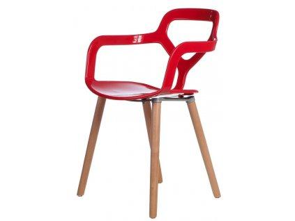 Židle NOX WOOD červená