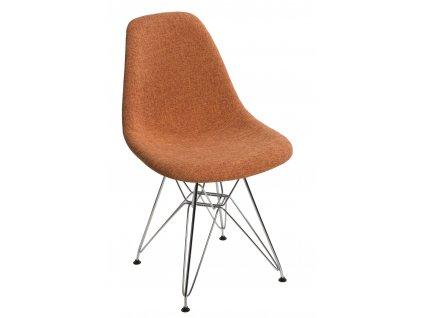 Židle P016 DSR duo oranž šedá