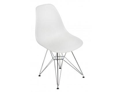 Židle P016 PP light grey, chromované nohy
