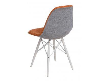 Židle P016V DUO oranžová šedá/bílá