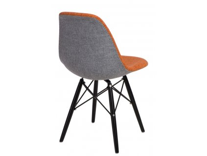 Židle P016V DUO oranžová šedá/černá