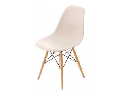 Židle P016V pp béžová, dřevěné nohy