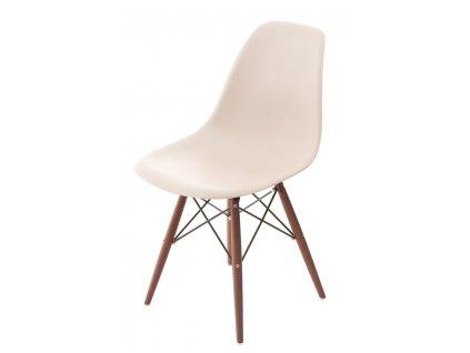 Židle P016V PP béžová/tmavá
