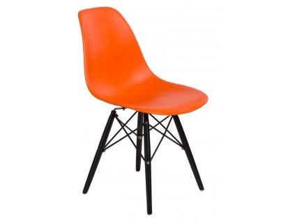 Židle P016V PP oranžová/černá