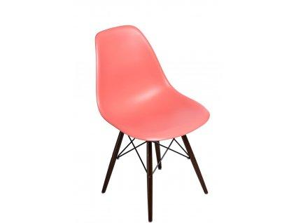 Židle P016V PP tmavá broskvová, tmavé nohy