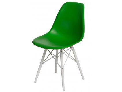 Židle P016V pp tmavě zelená/bílá