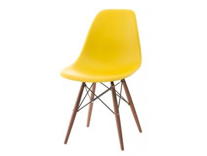 Židle P016V pp žlutá/tmavá