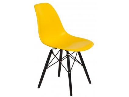 Židle P016V pp žlutá/černá