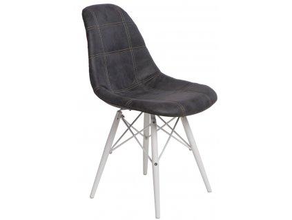 Židle P016V PICO grafitová/bílá