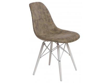 Židle P016V PICO olivová/bílá