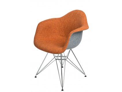 Židle P018 DAR duo oranžová šedá