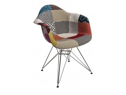 Židle P018 DAR patchwork barevná