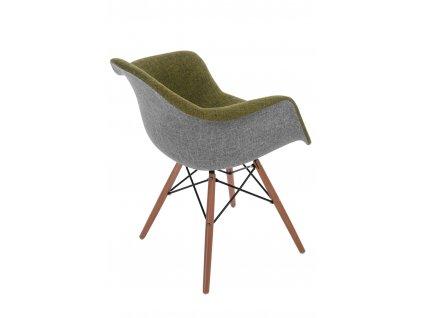 Židle P018 DAW Duo zelená - šedá
