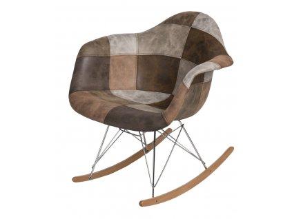 Židle P018 RAR patchwork béžová hnědá
