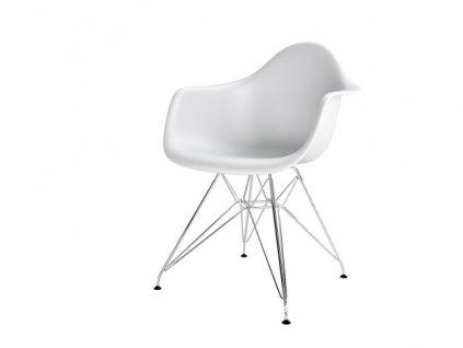 Židle P018PP bílá, chrom nohy hf