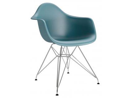 Židle P018PP navy zelená chrom hf