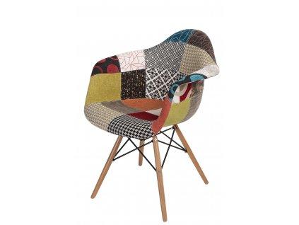 Židle P018V patch work, dřevěné nohy