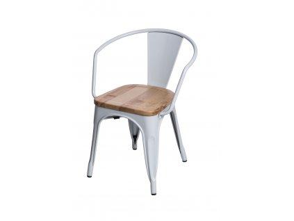 Židle Paris Arms Wood bílá jasan