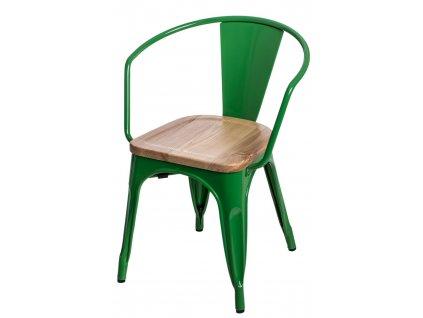 Židle Paris Arms Wood zelená jasan