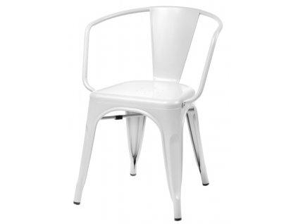 Židle PARIS ARMS bílá inspirované TOLIX