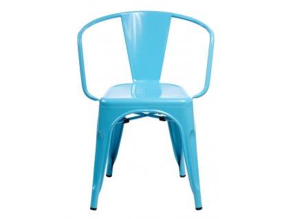 Židle PARIS ARMS modrá inspirované TOLIX