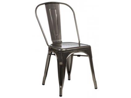 Židle Paris kovová inspirovaná Tolix