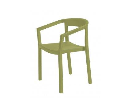 Židle Peach olivová