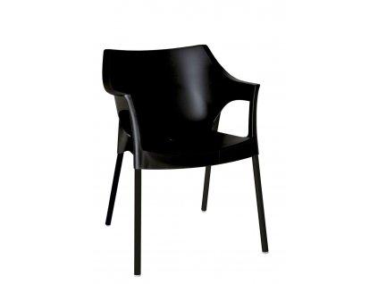 Židle POLE DELUXE černá