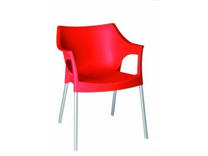 Židle Pole červená
