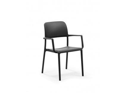 Židle RIVA s područkami černá