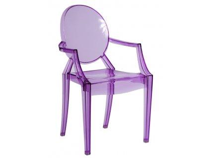 Židle Royal fialová transparentní
