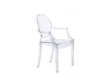 Židle Royal transparent