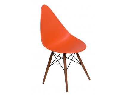 Židle RUSH DSW oranžová/tmavá