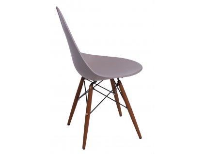 Židle Rush DSW šedá/tmavá