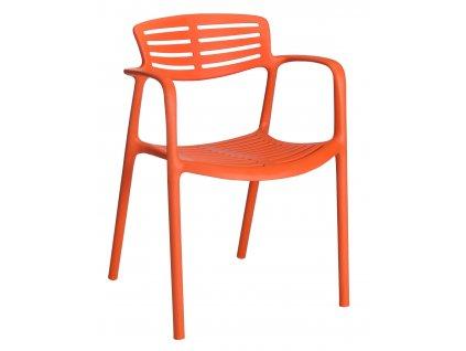 Židle Toledo Aire oranžová