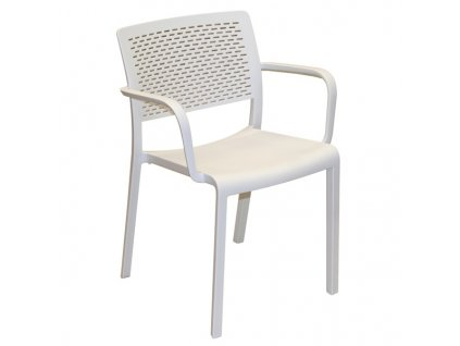 Židle Trama s područkami bílá
