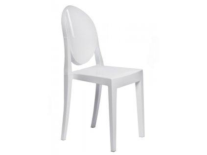 Židle Viki bílá plná