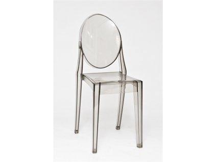 Židle Viki šedá transparent