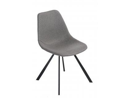 Židle Vincent M šedá látka