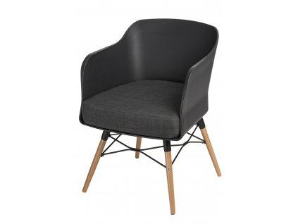 Židle Viva černý s grafitovým polštářem