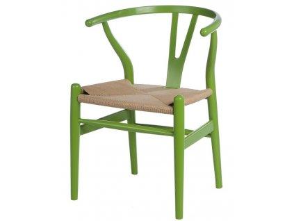 Židle Wicker Barva zelená